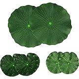Lightingsky Artificial Floating Foam Lotus Leaves Artificial Foliage Pond Decor Pack of 6 (30cm+18cm+15cm, Pack of 6)