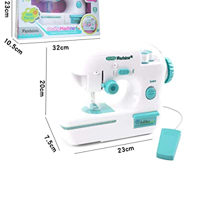 Archer Simulation Children Sewing Machine Toy Kids Mini Furniture Pretend Playing Girl Design Clothing Toys for Educational Gift Medium Electric Sewing Machine: Home & Kitchen