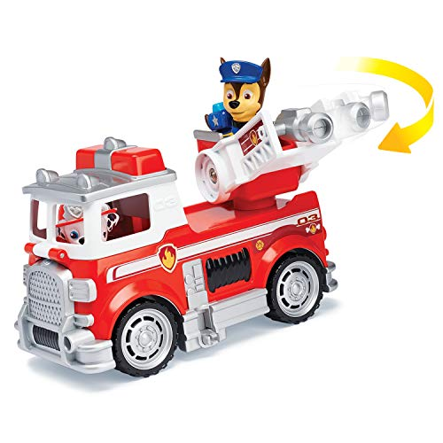 (Paw Patrol Ultimate Rescue, Marshall's Ultimate Rescue Fire Truck with Moving Ladder & Flip-Open Front Cab, for Ages 3 & Up)