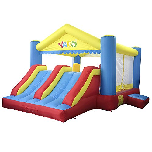 YARD Kids Inflatable Bounce House Combo Dual Slide with BLOWER, Commercial Grade Jumping Bouncing Area 16.4'x13.1'x8.9' Big Birthday Party Gift