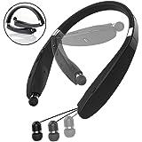B-Bonnie Bluetooth Headphones, Bluetooth 4.1 Wireless Stereo Headphones Retractable Earbuds Neckband Sport,