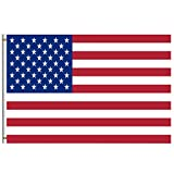 American Flags Stars And Stripes Flag 4x6 Feet with Brass Grommet Double Stitch Patriotic USA Labor Day Constitution Columbus Veterans Banner Garden Flag House Decorations for Indoor Outdoor Home