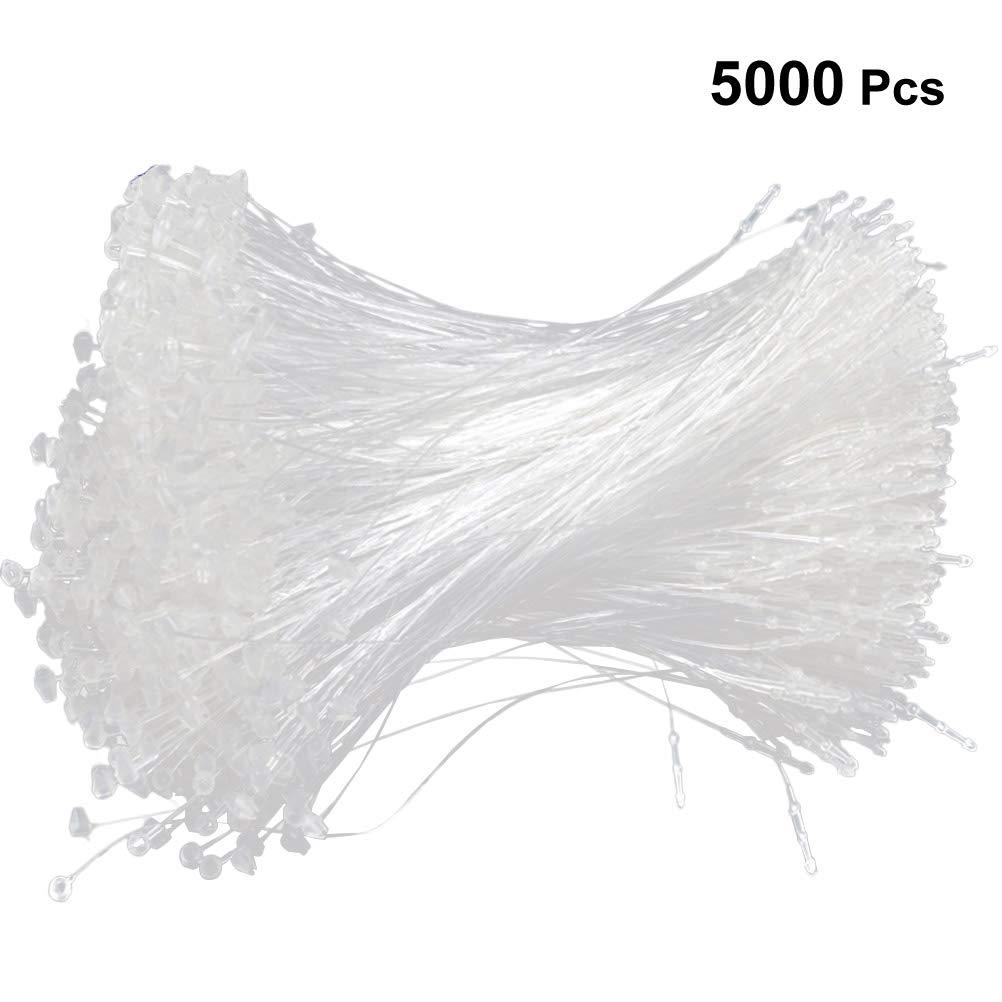 STOBOK Plastica Chiusura Snap Etichetta Blocca Spilla Sicurezza Cerchi,Bianco,5000 pezzi