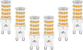Warm White 3000K 5W G9 GU9 LED Capsule Light Bulbs Small Corn Lamps 400Lm 6 Pack
