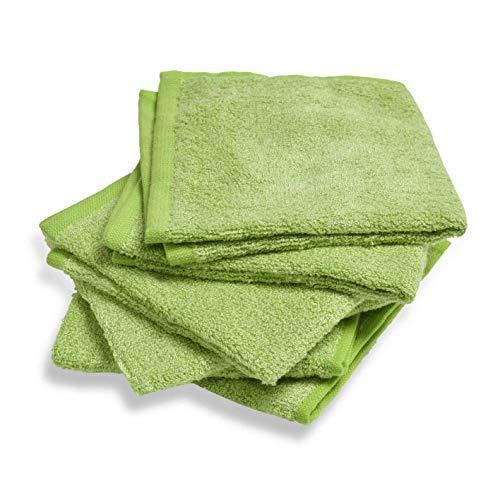 Kidicomfort Bamboo Washcloths - Super Soft Baby washcloths Organic Materials for Sensitive Newborns - 6 Pack 10x10 inches (Green)