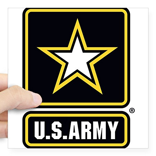 - CafePress U.S. Army Gold Star Logo Sticker Square Bumper Sticker Car Decal, 3