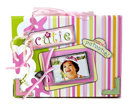 Keypoint Cutie Patootie Pink Green Embellished Brag Book Photo Album, For 4 x 6 Inch Photos (Holds 24) ()