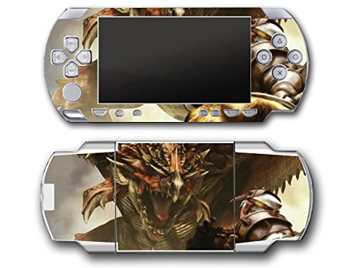 Psp Silver Video Game - Monster Hunter 3 4G Tri Ultimate Silver Special Edition Video Game Vinyl Decal Skin Sticker Cover for Sony PSP Playstation Portable Original Fat 1000 Series System