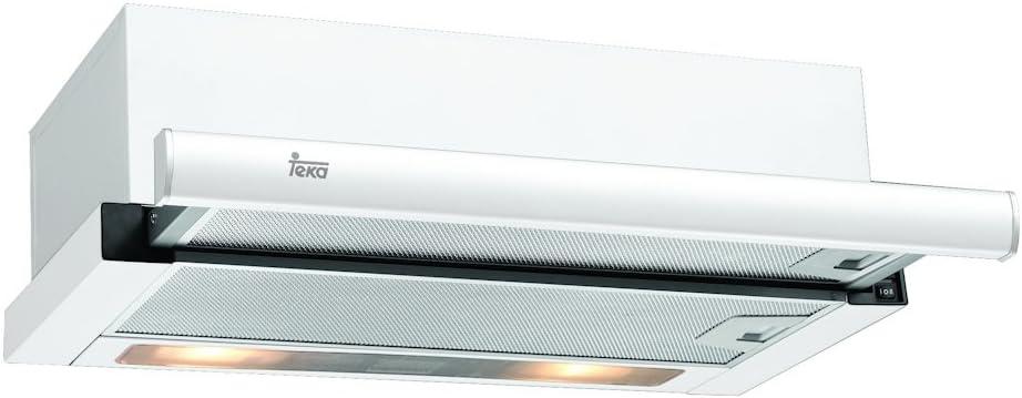 Teka TL 6310 - Campana Telescópica o extraplana, 332m³/h E , 332 m³/h, Canalizado/Recirculación, F, g, D, 56 dB, Color Blanco: Amazon.es: Grandes electrodomésticos