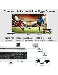 2016 Mini Pocket Pico proyector Alambre móvil Inalámbrico WiFi HD DLP LED 1080P Negro