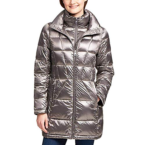 Andrew Marc Ladies' Packable Down Jacket (XL, Gray)
