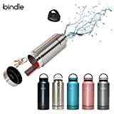 Bindle Bottle 24oz Stainless Steel Vacuum Insulated Water Bottle | Patent Pending Integrated Storage Compartment | Eco-Friendly Sports Flask For Cold Drinks & Hot Beverages | Leakproof & Reusable