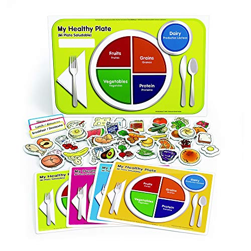 Accelerations My Healthy Plate Magnet Nutrition and Food Activity Set for Kids Pack of 4 ()