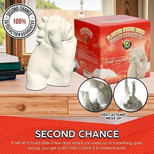 Hand Casting Kit - Keepsake Hands Molding Kit | Perfect DIY Molds for  Life's Special Memories & Events | Crafts for Adults | Includes Alginate  Powder,