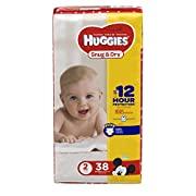 HUGGIES Snug & Dry Diapers, Size 2, 38 Count, JUMBO PACK (Packaging May Vary)