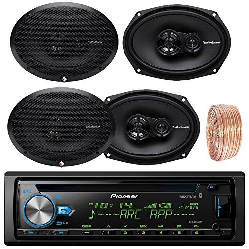 (Pioneer DEH-X6900BT Car CD Player Receiver Bluetooth USB AUX Radio - Bundle Combo With 4x Rockford Fosgate R169X3 6x9