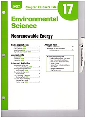 Amazon Com Ch Res File 17 Env Sci 2006 Holt Environmental Science