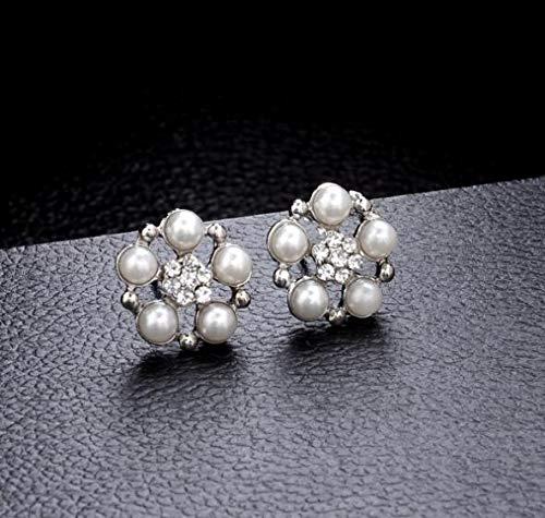 Bling Gemstone Flower Geometry Five-Pointed Star Set Earrings