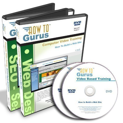 How to Build a Website plus SEO Search Engine Optimization Tutorial Training on 2 DVDs by How To Gurus
