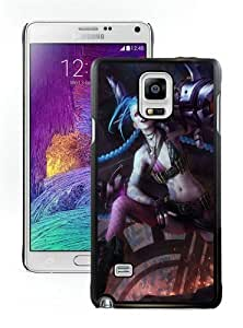High Quality Samsung Galaxy Note 4 Case ,Cool And Fantastic Designed Case With League-Of-Legends-Jinx-Big-Gun-640x1136 Black Samsung Galaxy Note 4 Cover