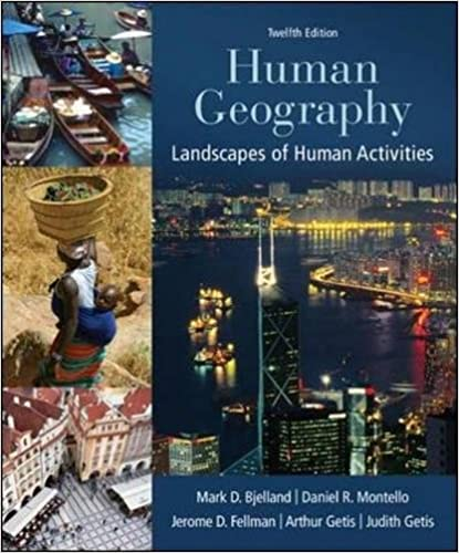 Human Geography Landscapes Of Human Activities Mark
