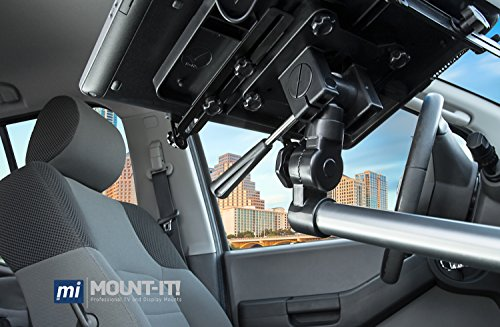 Mount-It! MI-526 Car Laptop Mount Notebook Tablet Holder for Commercial Vehicles, Trucks Fits iPad and Other Tablet Computers, Heavy-Duty Design with Full Motion Tray, Extendable Arms, Lockable Arm by Mount-It! (Image #6)