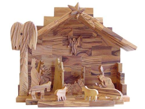 Olive Wood Nativity Set- Hand Made by Holylandmarket (Image #3)