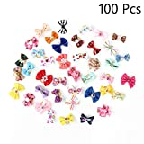 jimmy liam Dog Accessories - Pcs Handmade Pet Grooming Accessories Products Dog Bow 6011026 Hair Little Flower Bows for Small Dogs Charms Gift 1 PCs