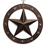 15″ Metal Wall Decor Western Barn Farmhouse Star Wall Plaque Texas Star Wall Art Rustic Cowboy Country Wall Art Home Decor Review