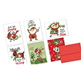 72 Holiday Note Cards - Ugly Holiday Sweater - Blank Cards - Red Envelopes Included