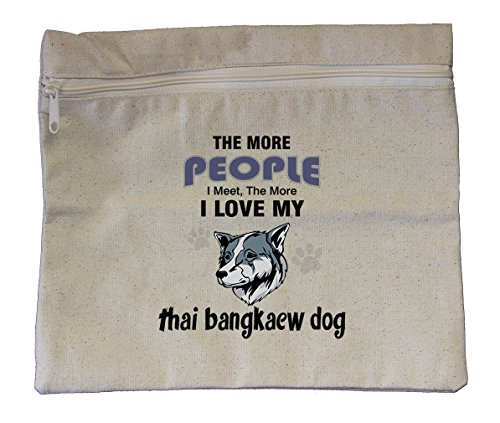 Canvas Zipper Bag 10''X12'' More People Meet Love Thai Bangkaew Dog Style In Print by Style in Print