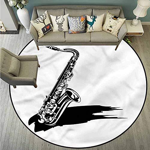 (Pet Rugs,Saxophone,Paint Brush Classic Jazz,Machine-Washable/Non-Slip,4'3