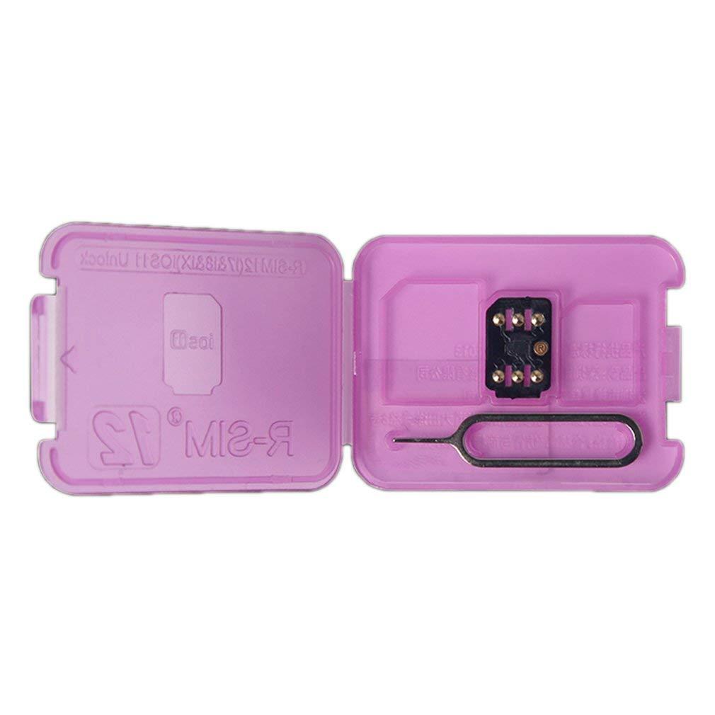 RSIM 12 Unlock Card 4G Scheda di sblocco automatico per iPhone X / 8/7/6 / 6S per iOS11 (Colore: nero) FairytaleMM