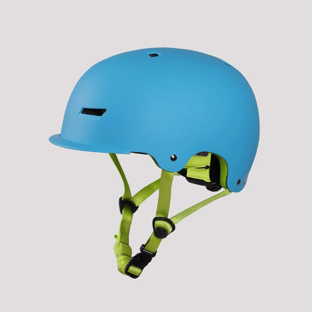 DJL ローラースケートヘルメット大人子供バランス車スケートボードブラシストリートフィギュアスケート乗馬ヘルメット DJLSF (色 : 青, サイズ さいず : 49X53cm) B07S3KKVMV 青 49X53cm