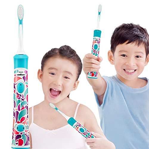 4 PACK Brush Heads Replacement HX-6034/HX6032 for Kids Philips Sonicare Electric Sonic Toothbrush, fit All Snap on Plague Control Gum Health DiamondClean FlexCare HealthyWhite & EasyClean by UUbrush (Image #5)