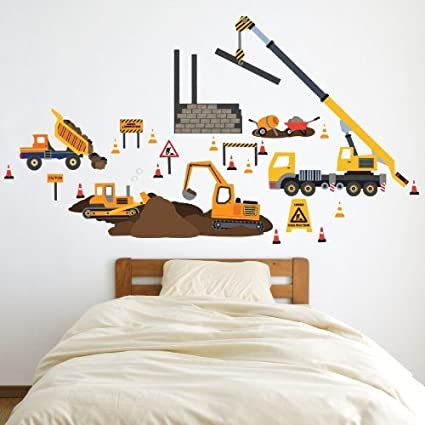 Construction Site Wall Decals Removable and Reusable Peel and Stick!  sc 1 st  Amazon.com & Amazon.com: Construction Site Wall Decals Removable and Reusable ...