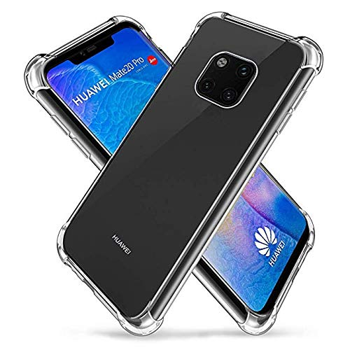 cheap for discount 31b81 2757b Amazon.com: Vicstar Huawei Mate 20 Pro Case, Crystal Clear Soft Thin ...