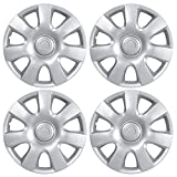 """BDK Toyota Camry Hubcaps Wheel Cover, 15"""" Silver Replica Cover, OEM Factory Replacement (4 Pieces)"""
