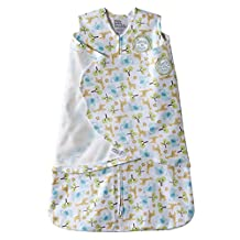 Halo Innovations SleepSack Swaddle Cotton Tree Print, Green, Yellow, White, Blue, Newborn