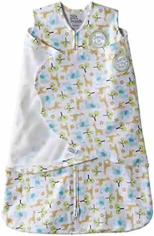 Halo SleepSack Swaddle Wearable Blanket, 100% Cotton (Newborn, Animals / Trees)