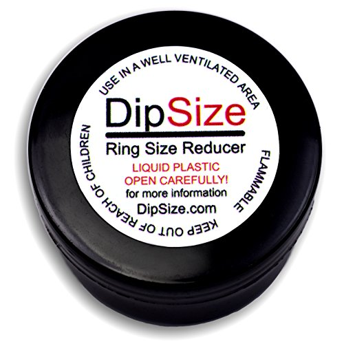 DipSize - Ring Size Adjuster | Ring Size Reducer | Ring Guard - Fast Drying Clear Rubber