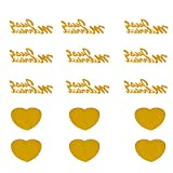 MRxcff Wedding Confetti 1500Pcs/Pack Just Married + Heart Shaped Love Sequin Wedding Scatters Confetti Romantic Party Table Decoration Gold