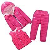 Mesinsefra Baby Boys Girls Winter Warm Pants & Jackets &Vests Clothes Sets Peach 120cm