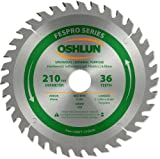 Oshlun SBFT-210036 210mm 36 Tooth FesPro General Purpose ATB Saw Blade with 30mm Arbor for Festool TS 75 EQ