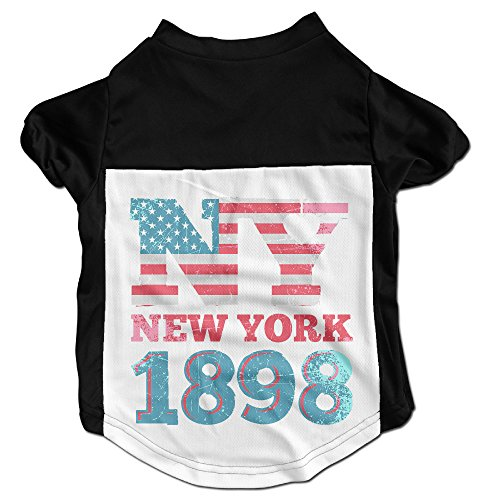 Disaeq New York 1898 Customized Casual Cat Dog Pet Puppy Short Sleeve T Shirt Pet Clothes Clothing Sweater - New Plaza Kings York