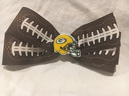 Green Bay Packers Hair Bow, Football Hair Bow, Football Hair Accessories, Football Hair ()