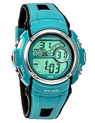 Sportech Unisex   Blue & Black Digital Sport Watch   SP10112