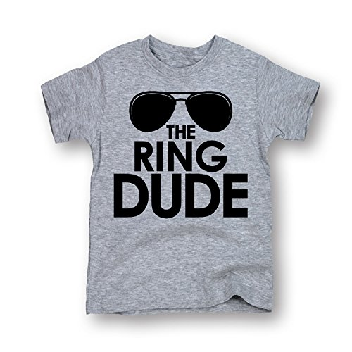The Ring Dude Sunglasses Bearer Wedding Bridal Party Trendy Toddler T Shirt