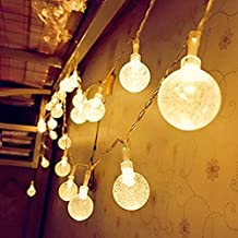 String Lights Battery, CMYK Globe Fairy Lights 14.6ft 40 LED Waterproof Decorative Lighting for DIY Garden, Gazebo, Wall, Trees, Wedding, Holiday(Warm White)