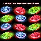 ArtCreativity Light Up Spinning Top Toys, Set of